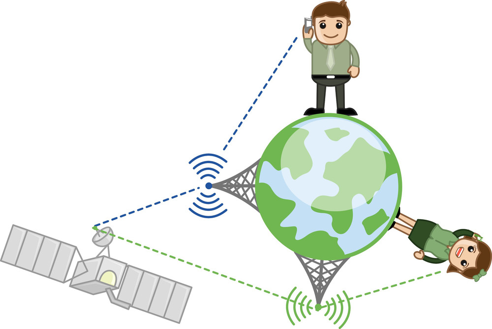 Mobile Network - Vector Illustration