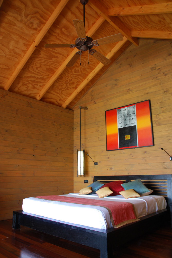 Modern And Luxury Bungalow Hotel Room In A Tropical Island