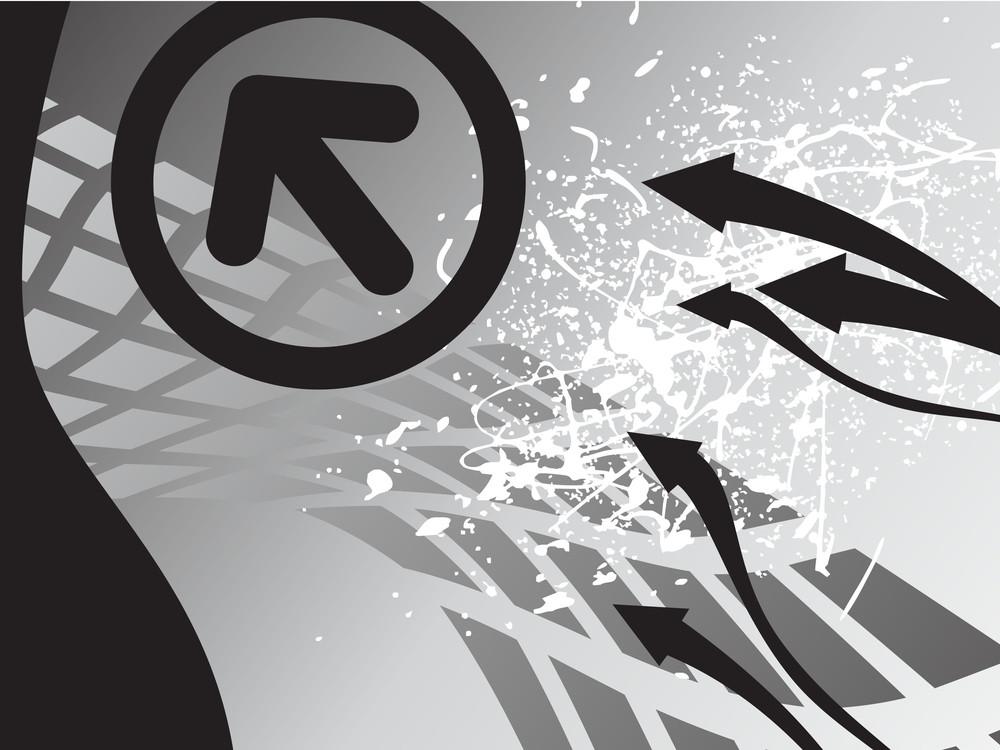 Modern Arrow On Black Background
