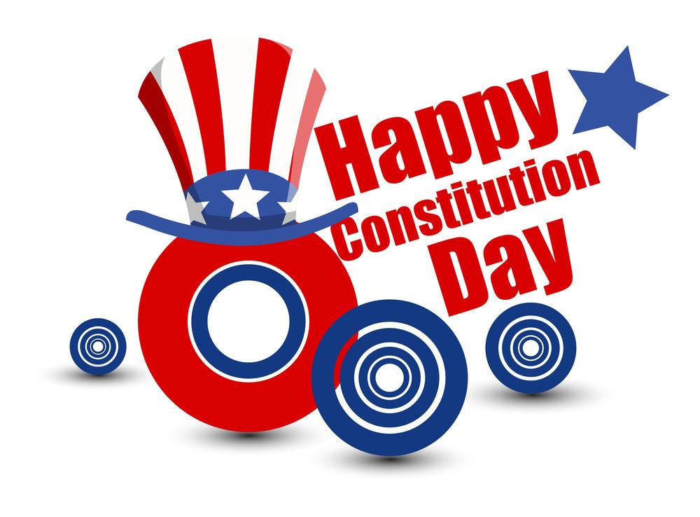 Modern Constitution Day Vector Illustration
