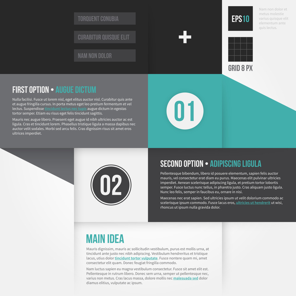 Modern Corporate Layout With 2 Options. Eps10.
