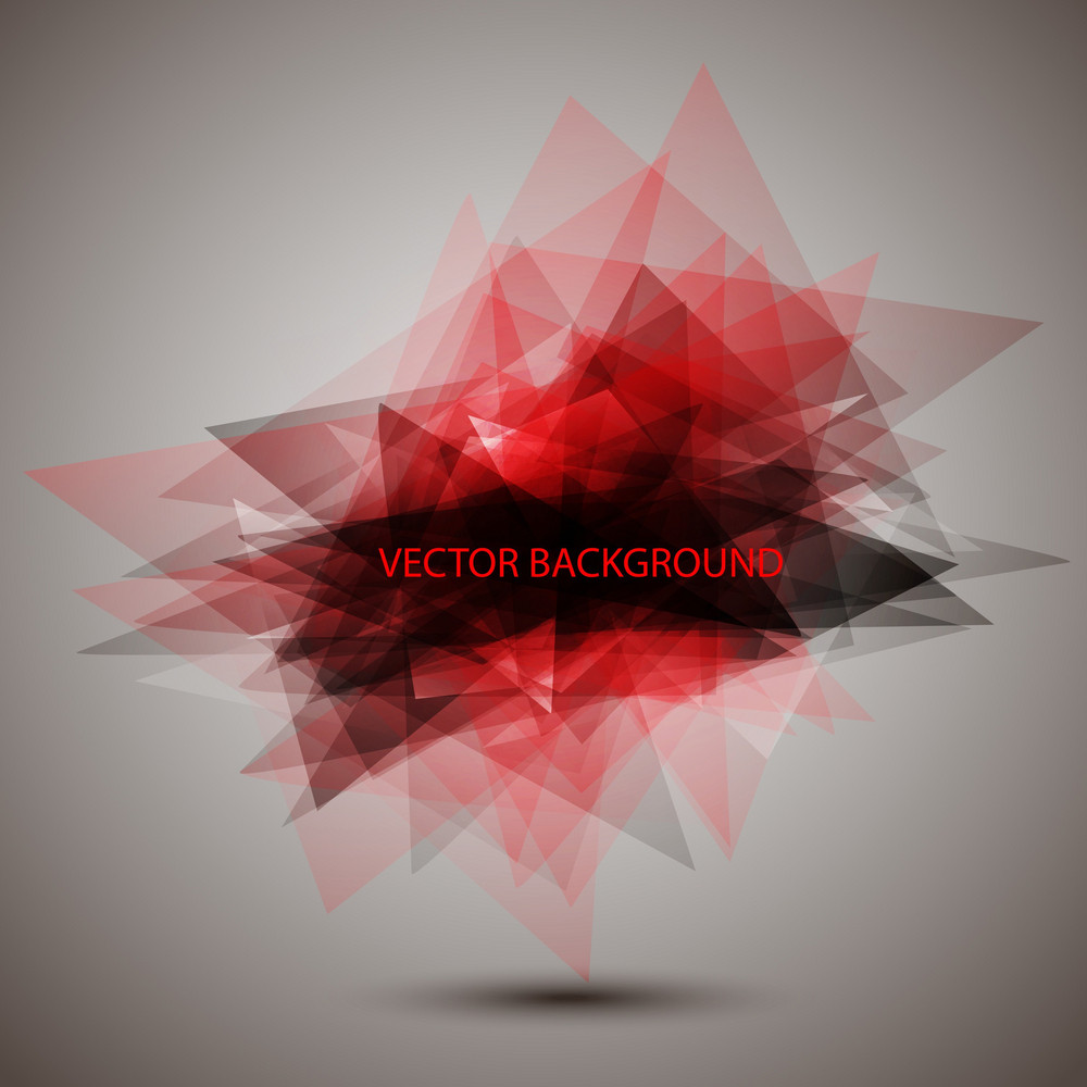 Modern Geometric Red Background