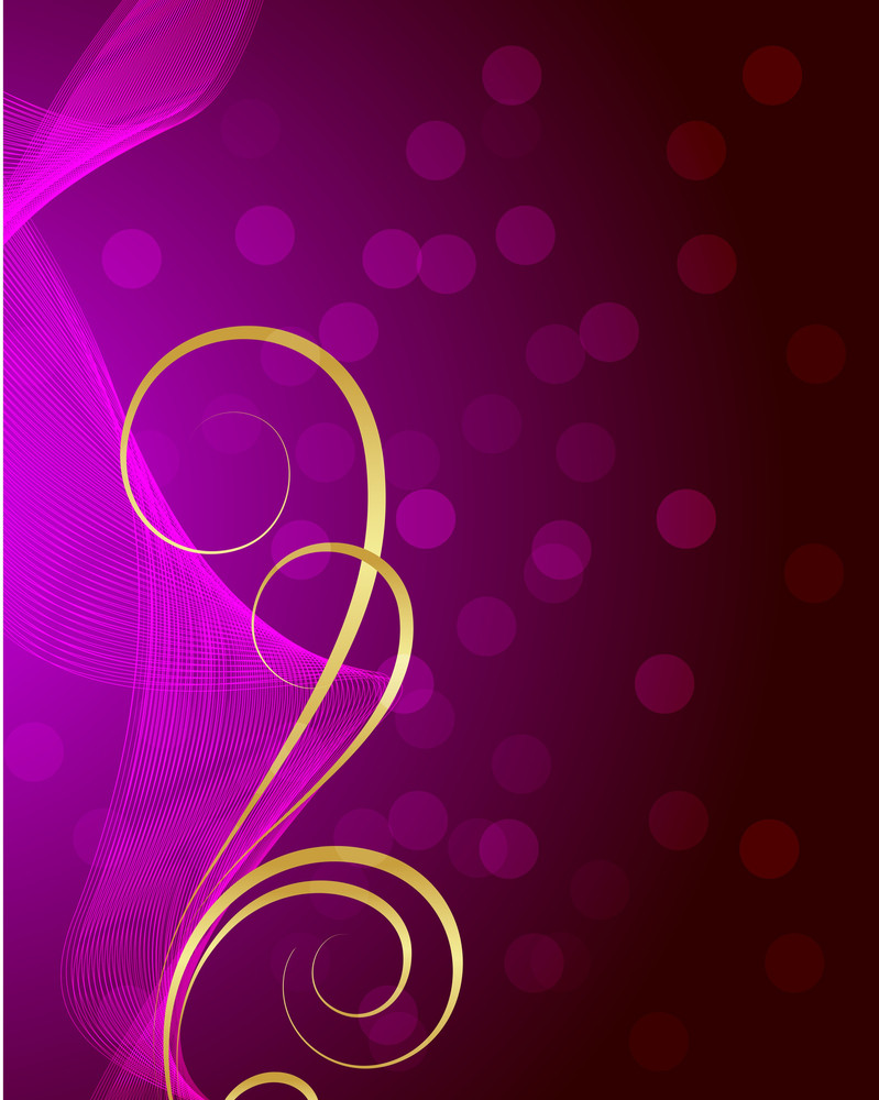 Modern Golden Flourish Design Bokeh Background