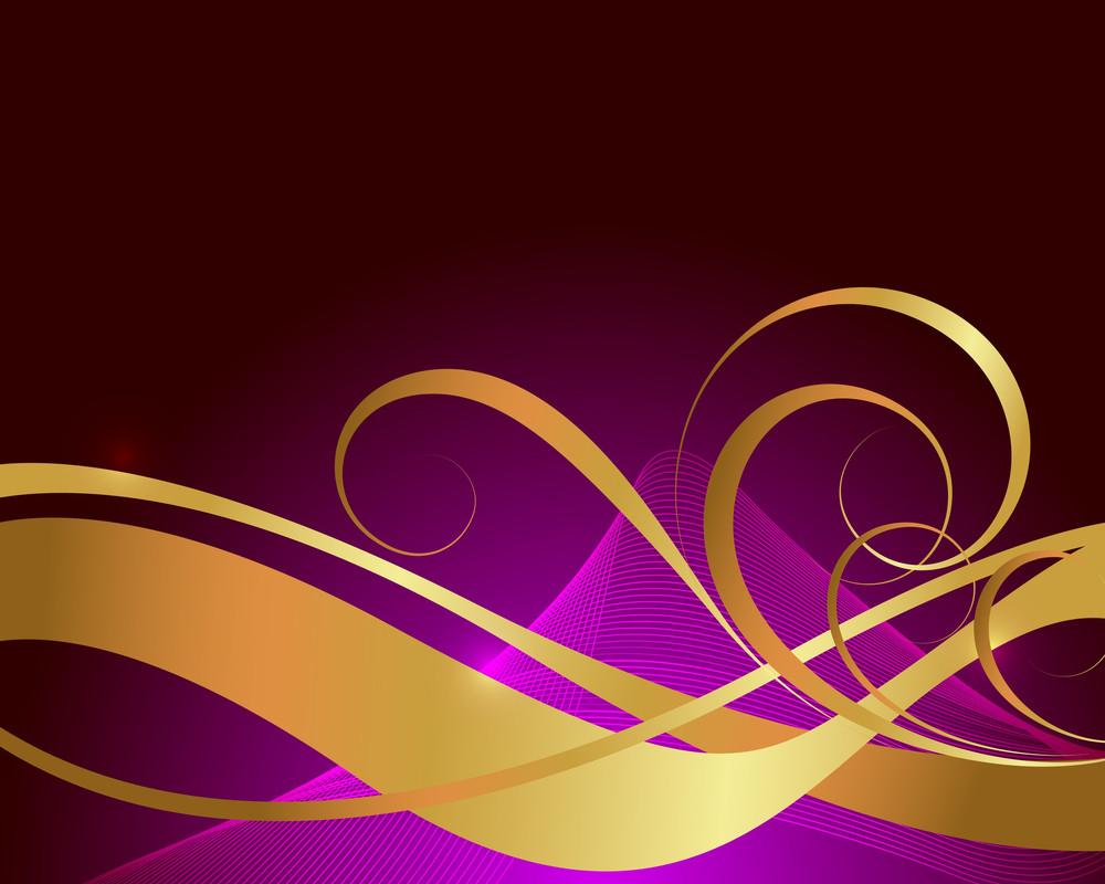Modern Golden Flourish Design