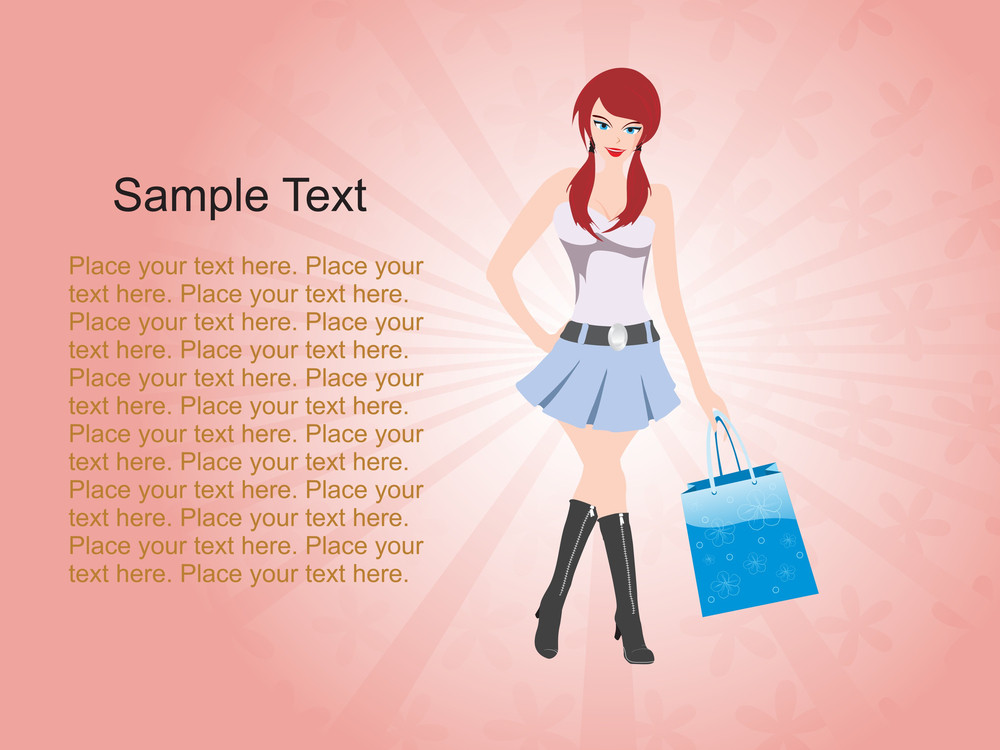 Modern Shopping Girl