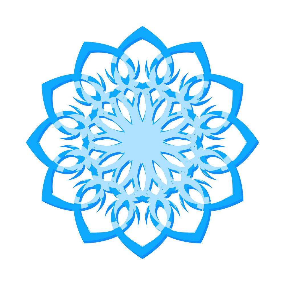 Modern Snowflake Design