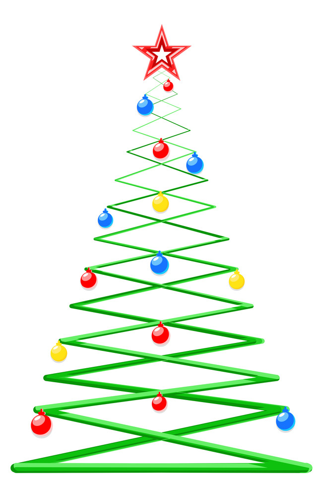 Modern Style Decorative Christmas Tree