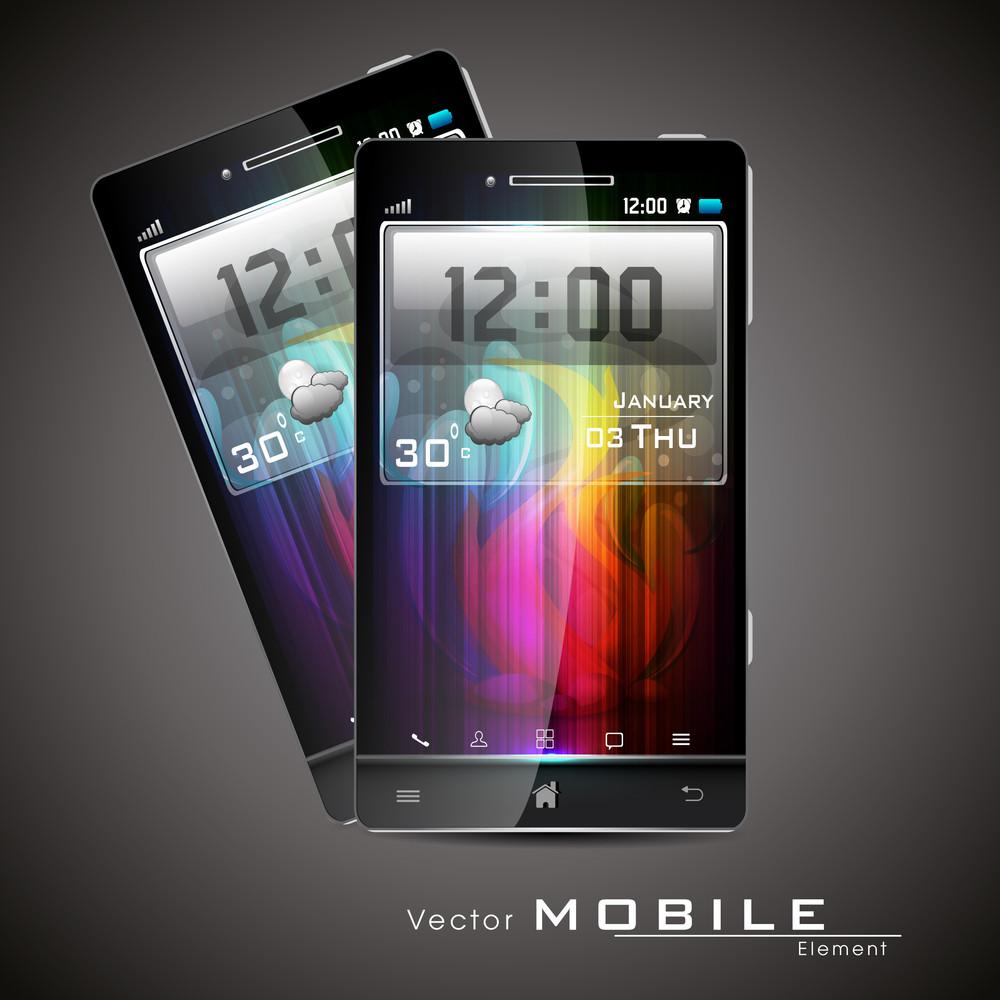 Modern Vector Touchscreen Smart-phone