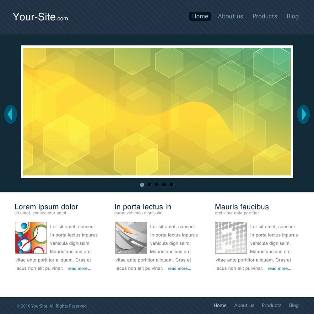Modern Website Template Vector Illustration