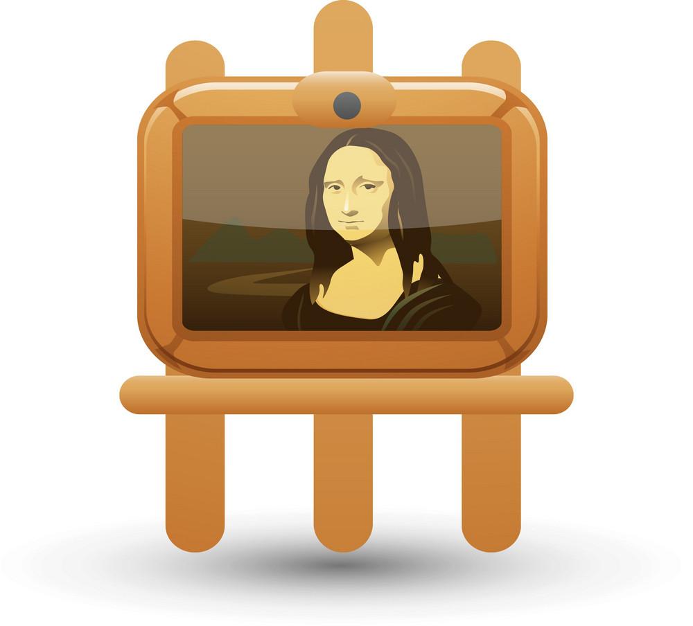Mona Lisa On Easel Lite Art Icon
