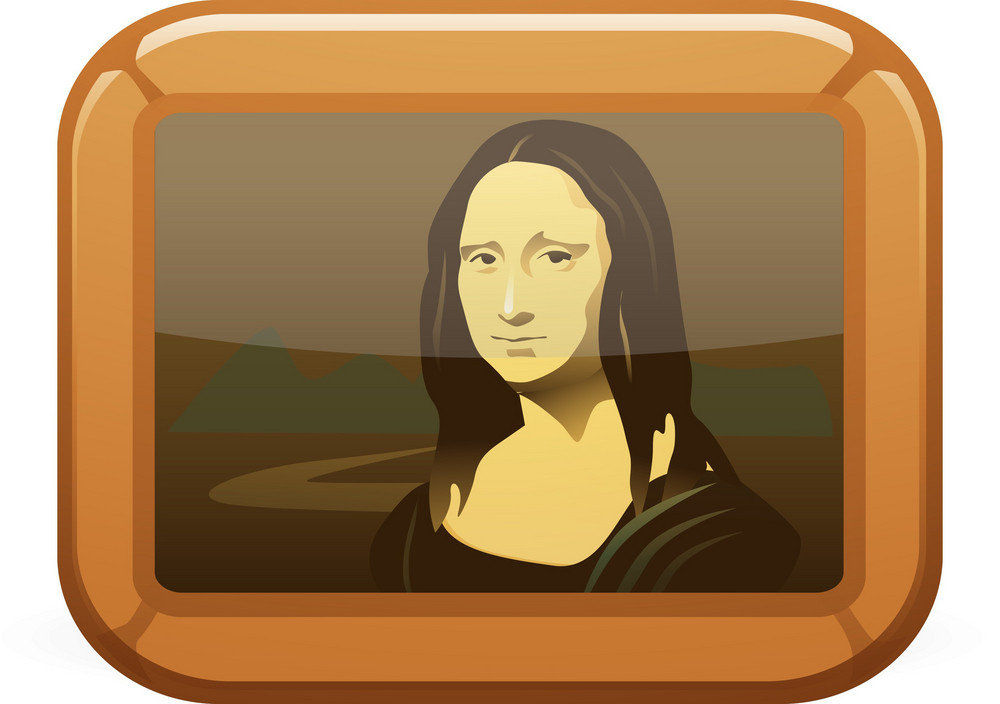 Mona Lisa Painting Lite Art Icon