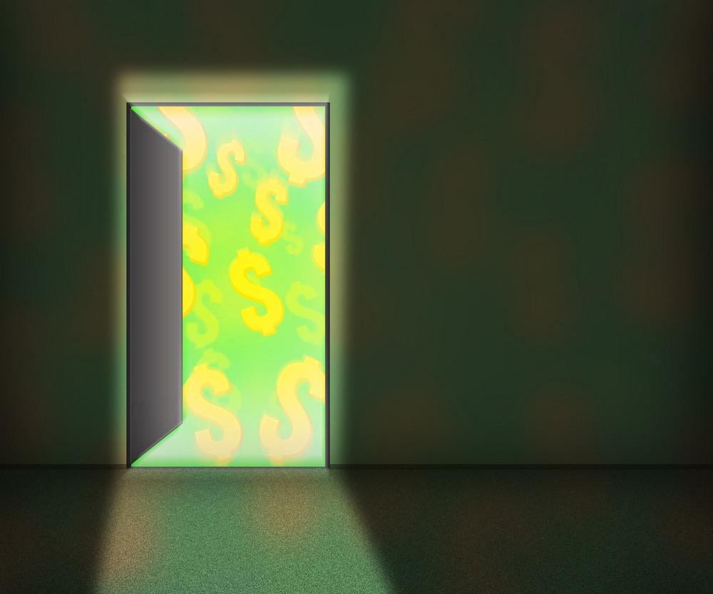 Money For Open Door Background