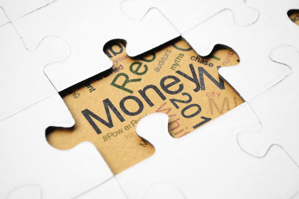 Money Puzzle Concept