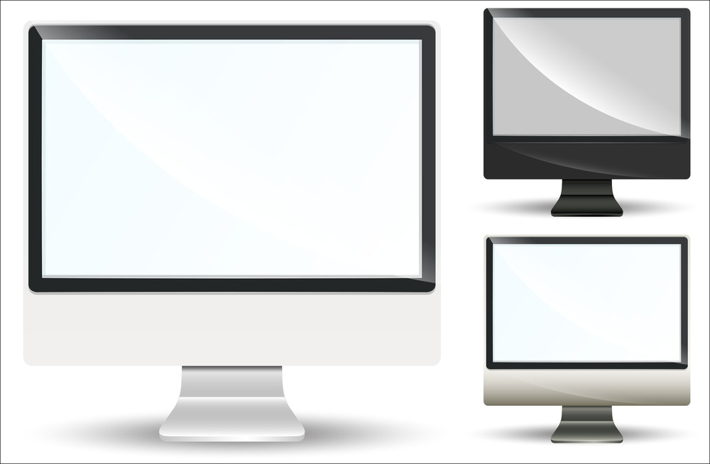 Monitor And Screen Vector Elements