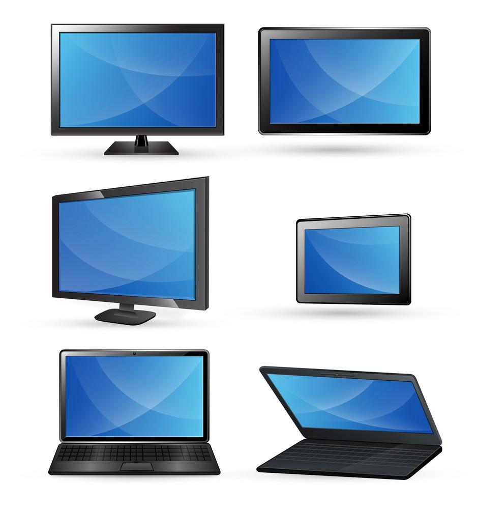 Monitors Screens Vectors
