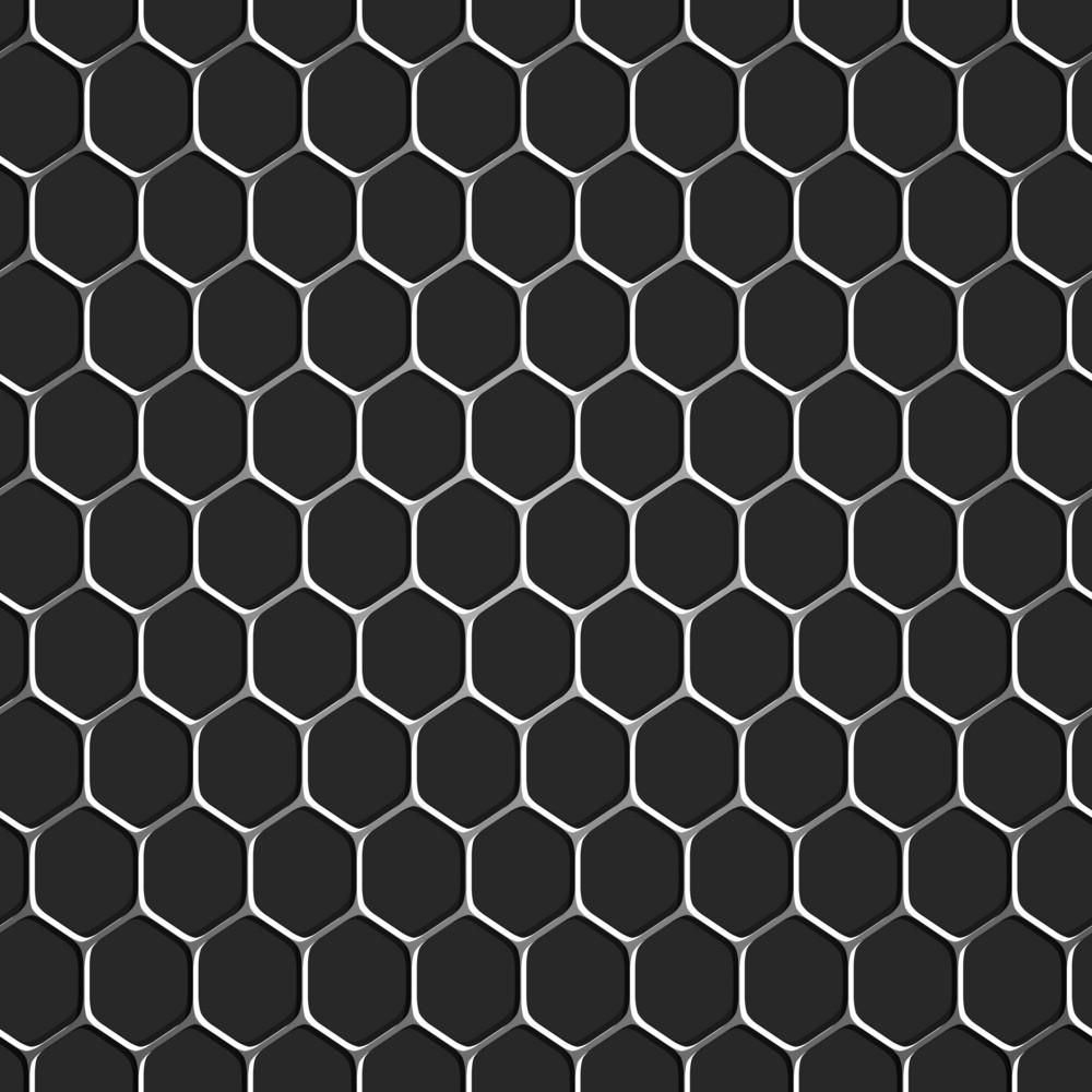 Monochromatic Honeycomb Seamless Pattern Background