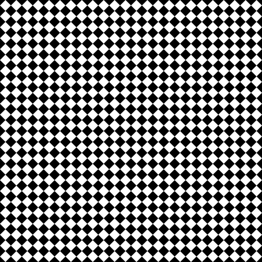 Monochrome Black And White Diagonal Checkerboard Pattern