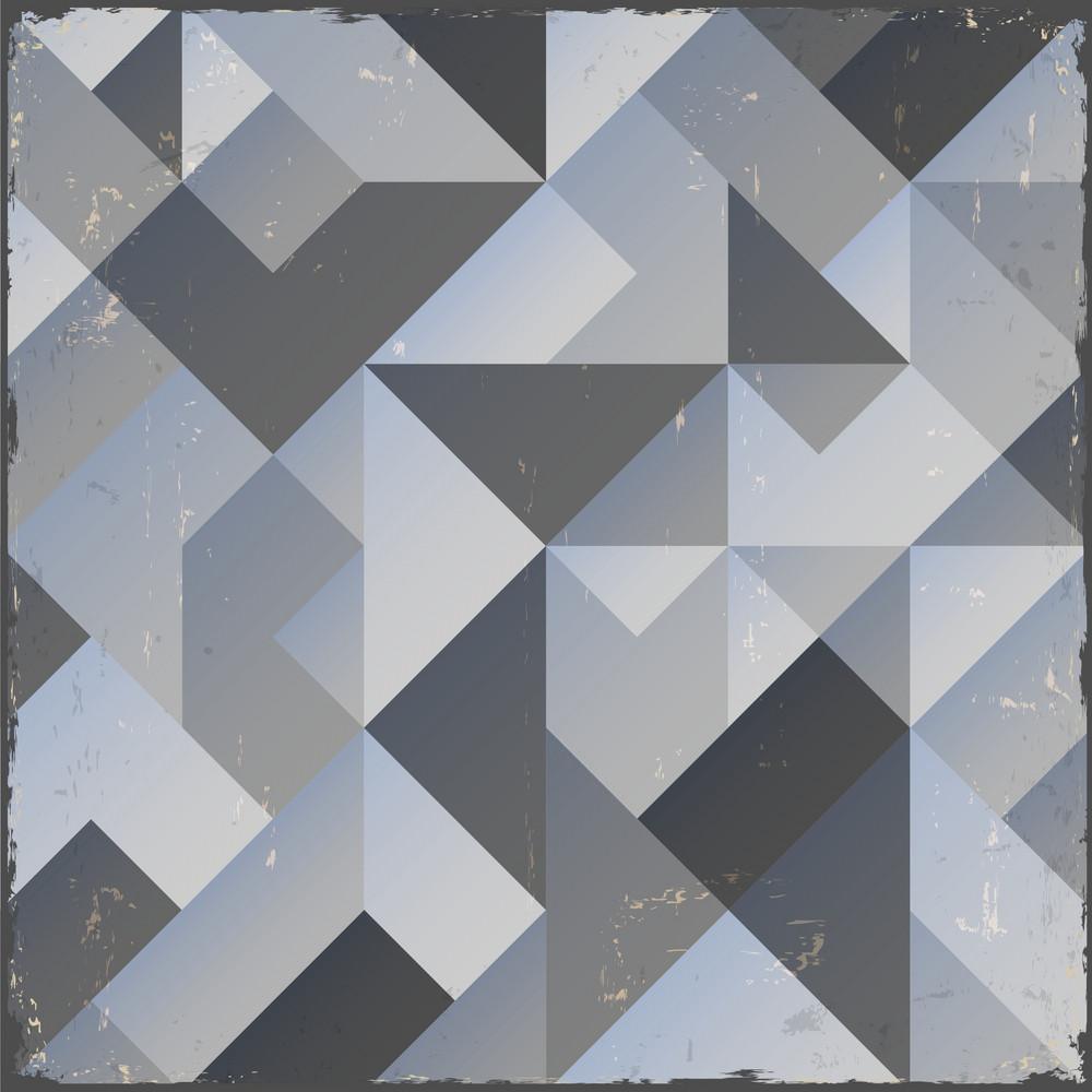 Monochrome Retro Geometric Background