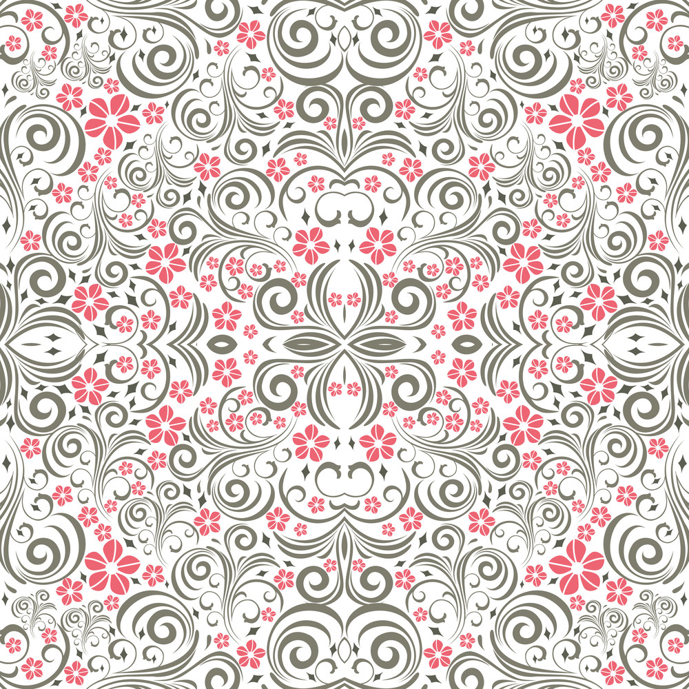 Monochrome Seamless Pattern.