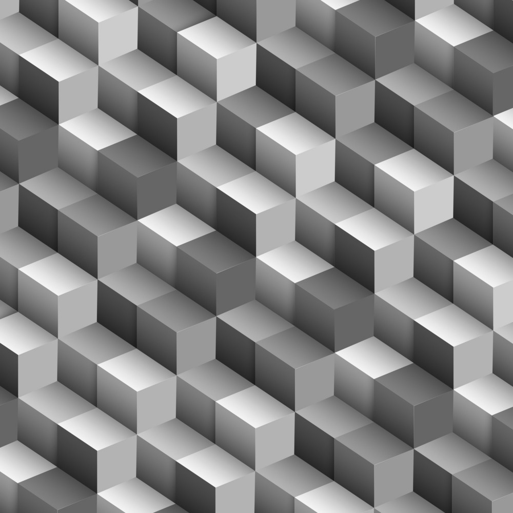 Monochrome Vector Background With Cubes