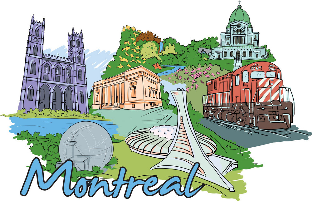 Montreal Vector Doodle