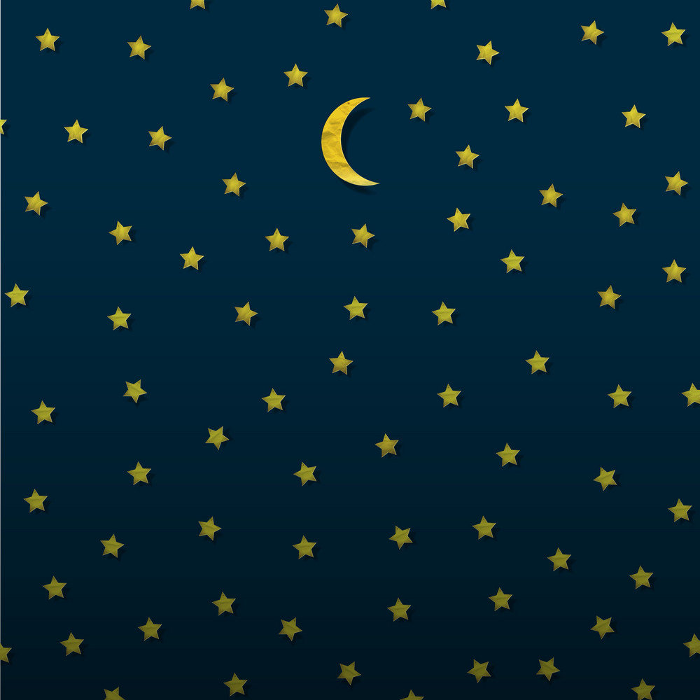 Moon And Stars From Paper