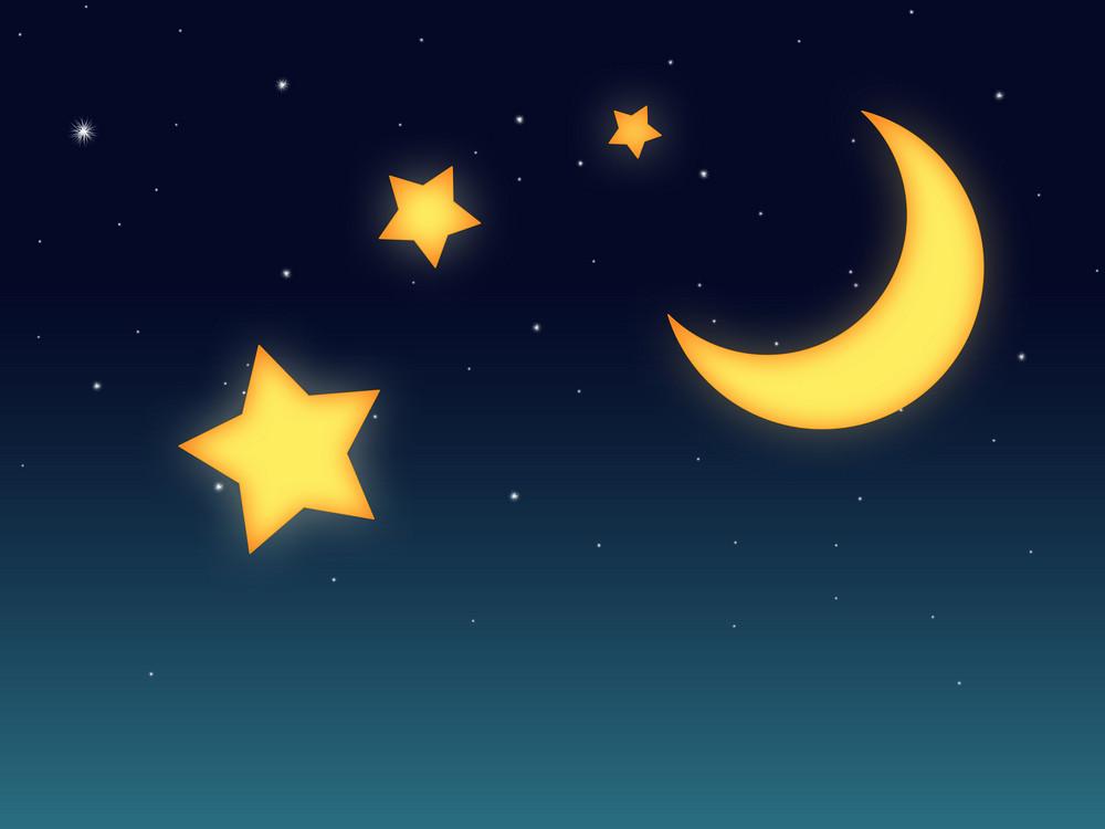 Moon Stars Background