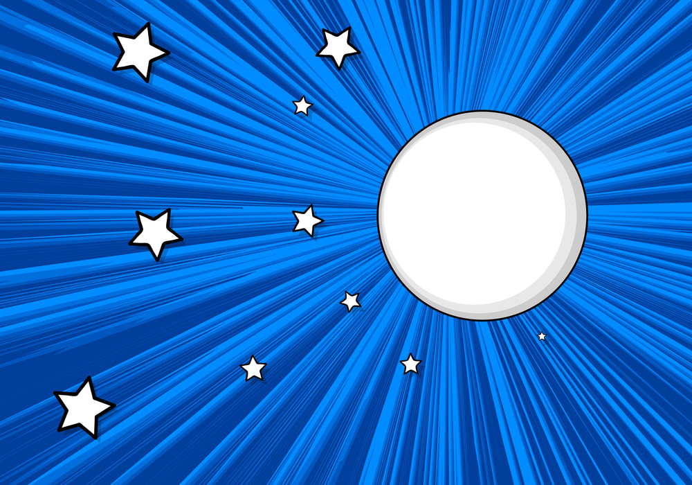 Moon Stars Vector Background