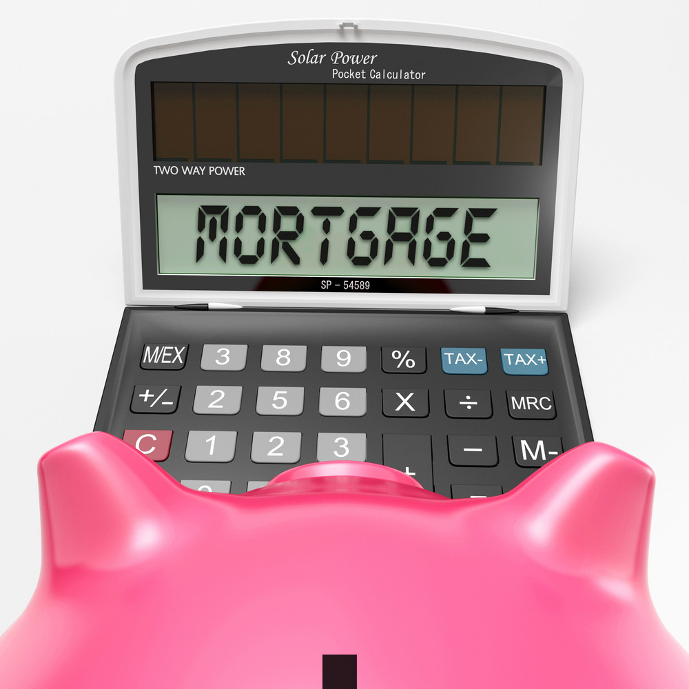 Mortgage Calculator Shows Purchase Of Real Estate