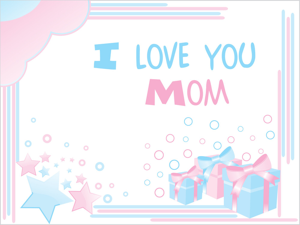 Mother Day Card With Funky Pattern