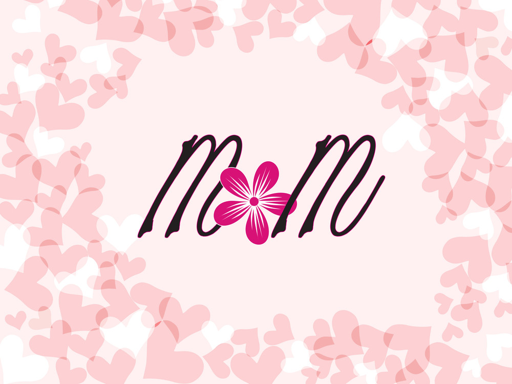 Mother Day Card With Heart