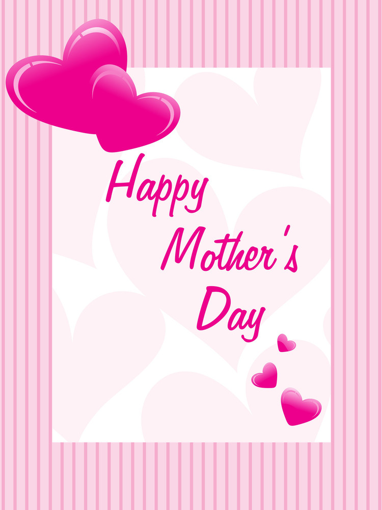 Mother's Day Card With Heart Shape