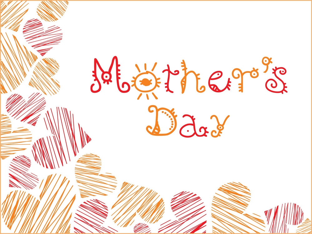 Mothers Day With Love Background