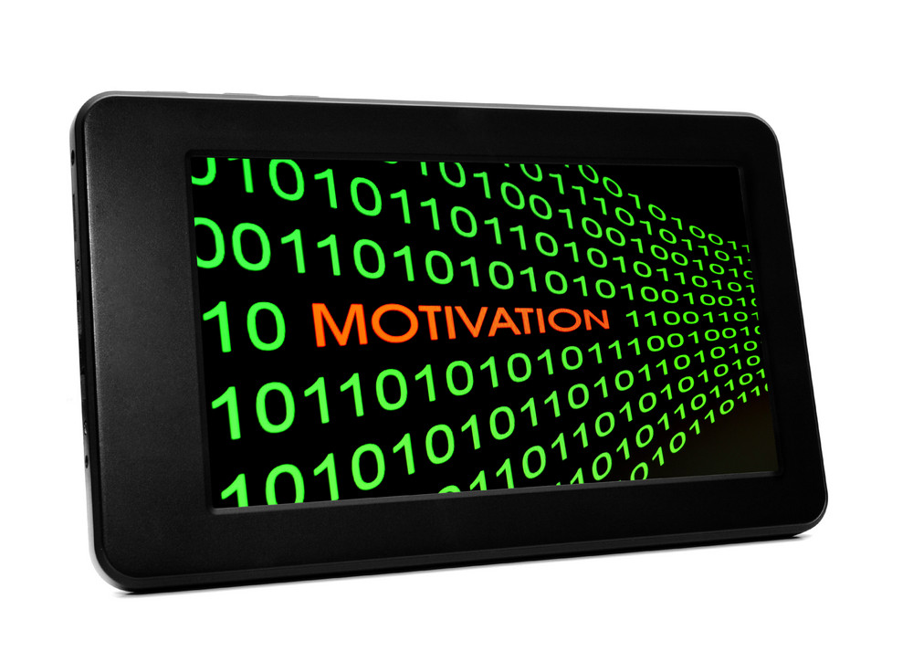 Motivation Concept On Pc Tablet