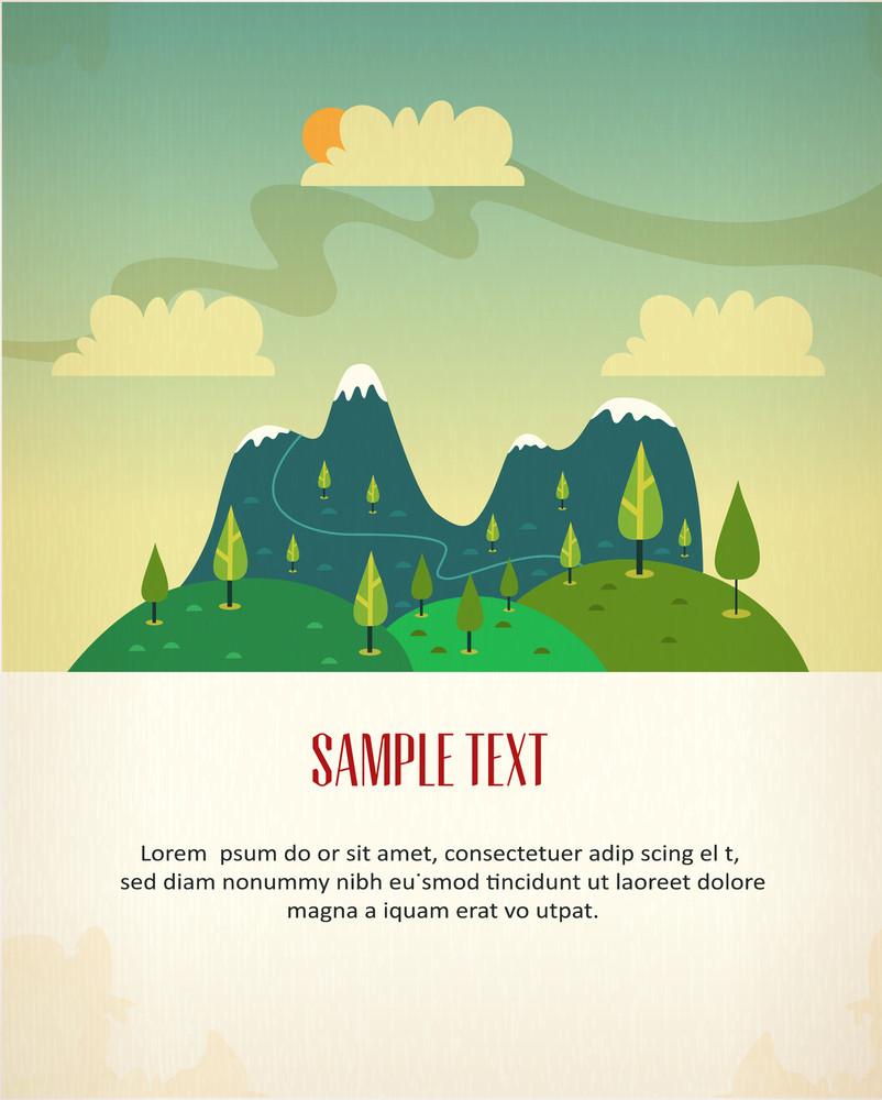 Mountain Landscape Poster (editable Text)