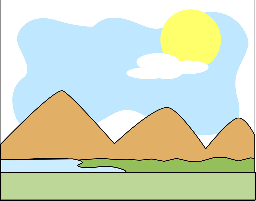Mountain River Scenery Background