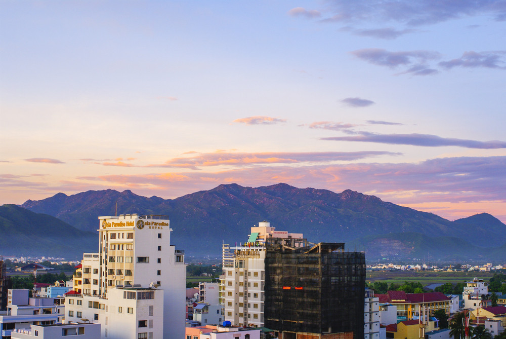 Mountain Scene, Tropics, Pacific ocean city view, Natrang vietnam