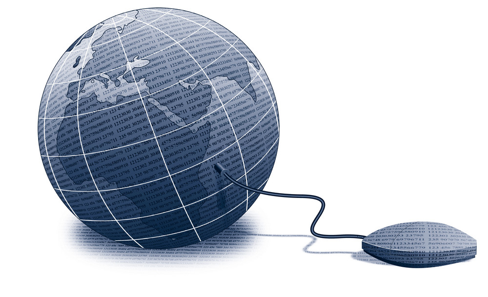 Mouse Connected On Globe