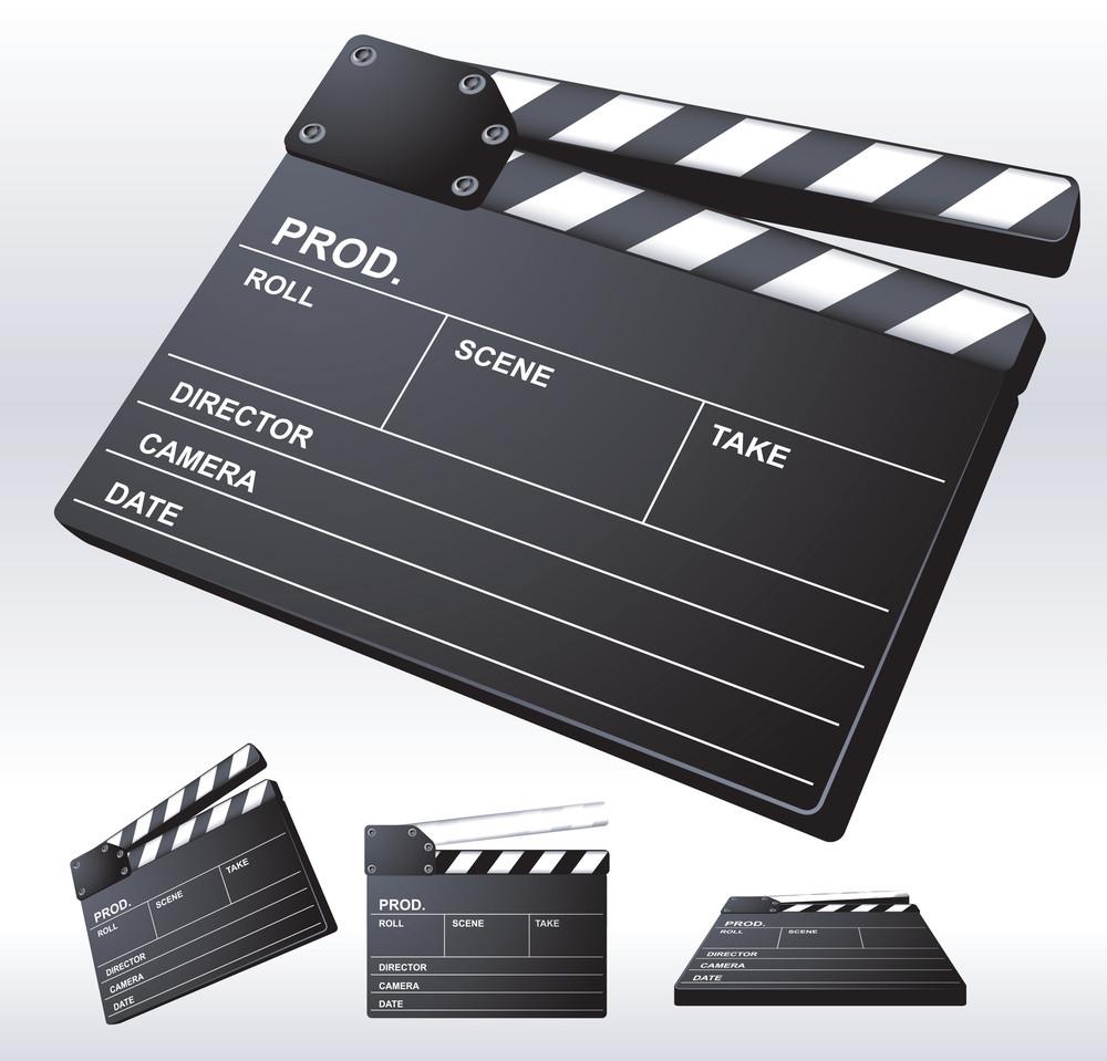 電影場記板。向量。