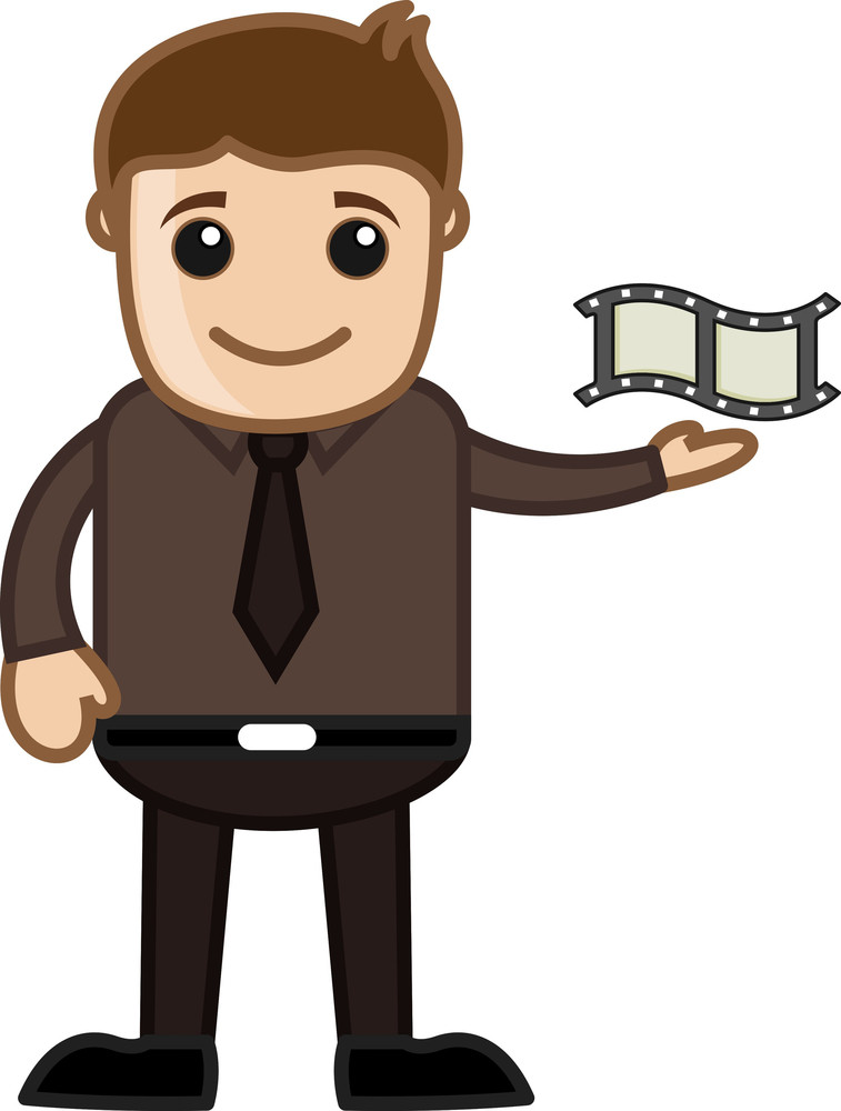 Movie Reel - Business Cartoons