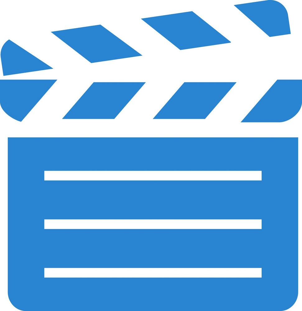 Movie Slate Simplicity Icon