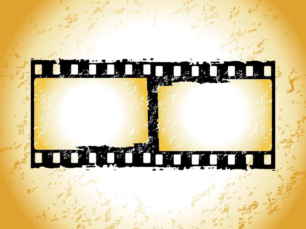 Movie Stripe Frame Isolated On Grunge Background