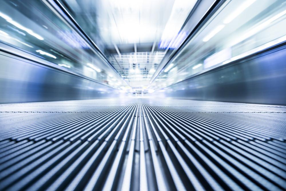 Moving modern escalator way to success business