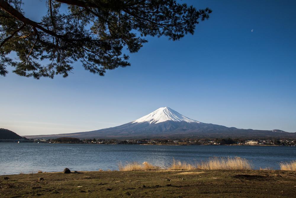 Mt. Fuji with lake Kawaguchiko Japan