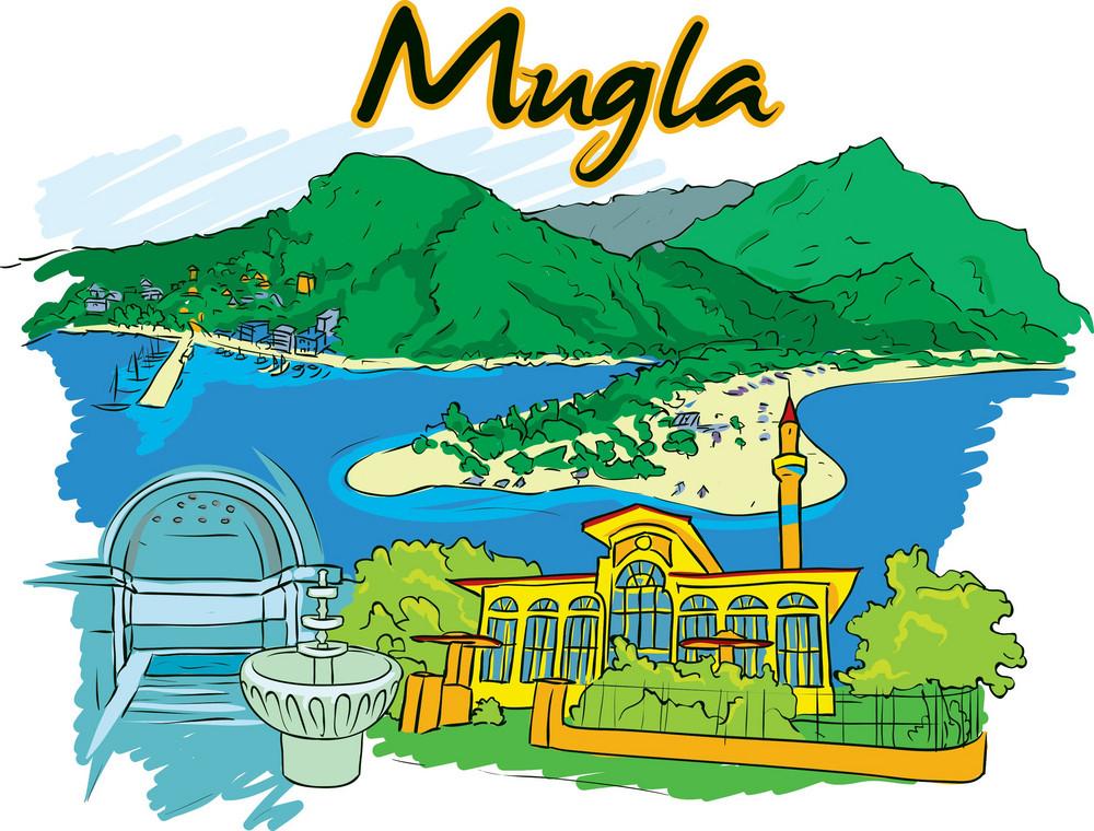 Mugla Vector Doodle