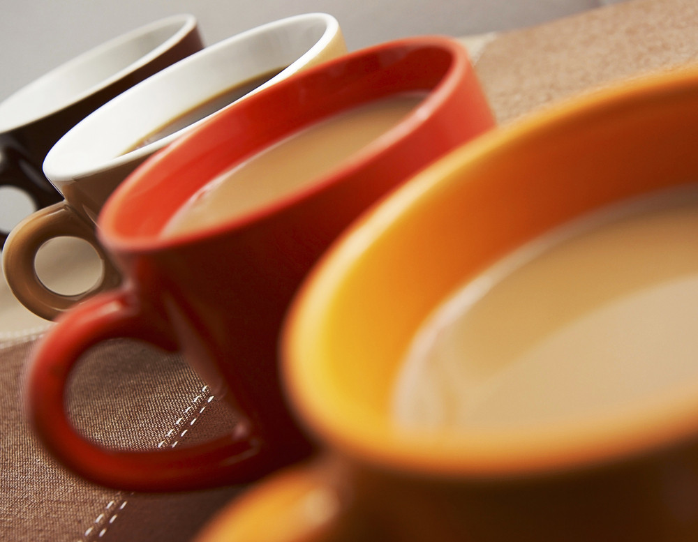 Mugs Of Coffee On A Table Close Up