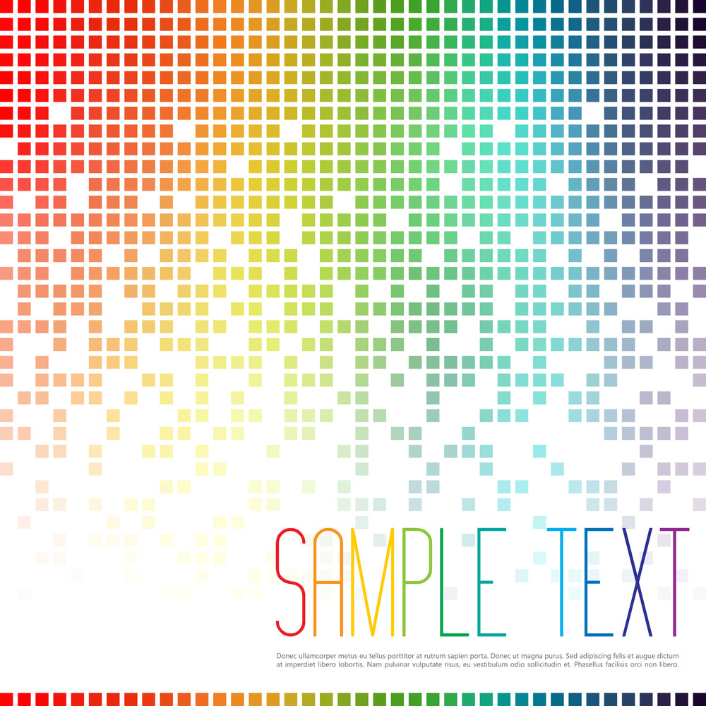Multicolor Mosaic Background Digital Art