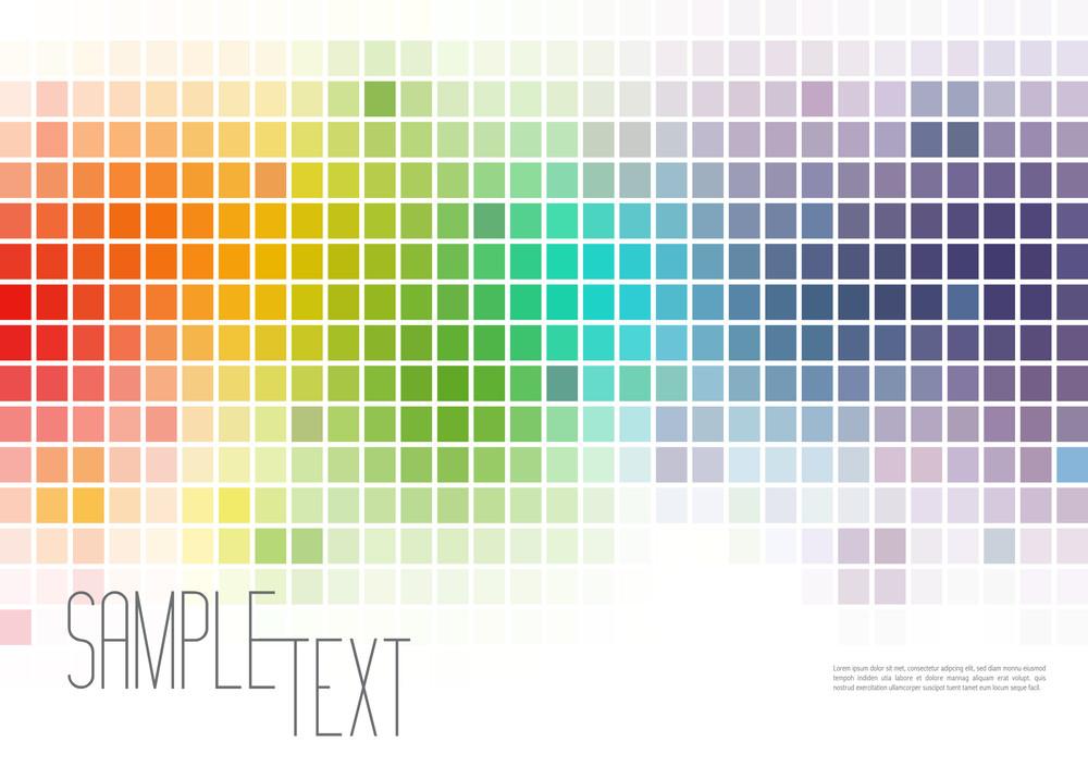 Multicolor Mosaic Background Digital Art