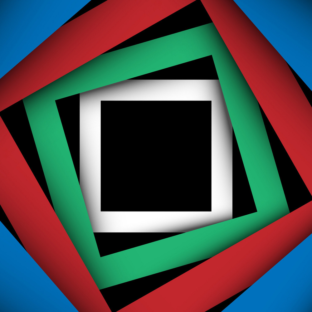 Multicolored Paper Square And Frame Background