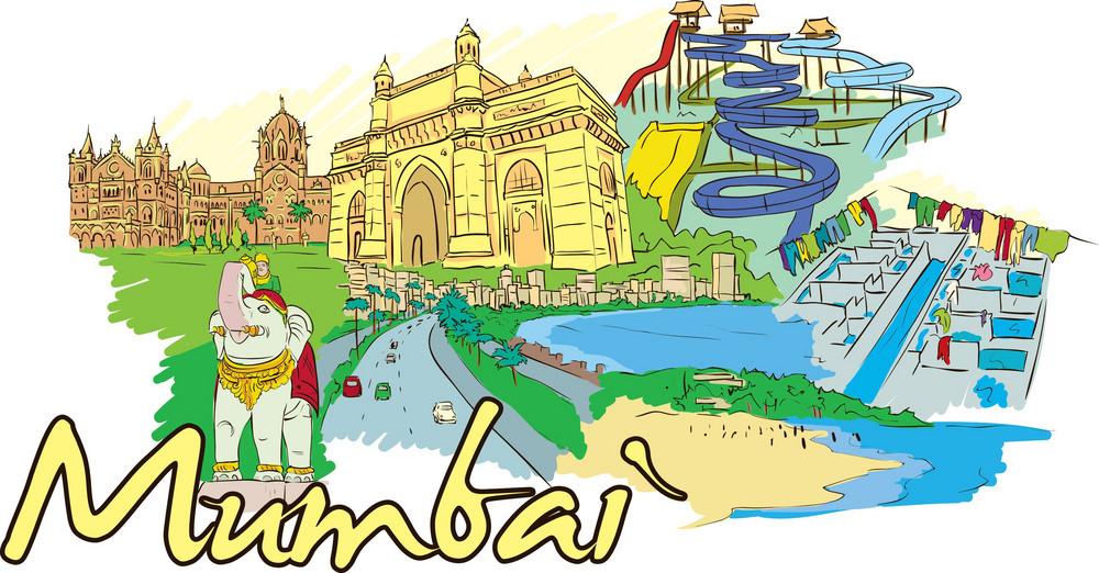Mumbai Vector Doodle